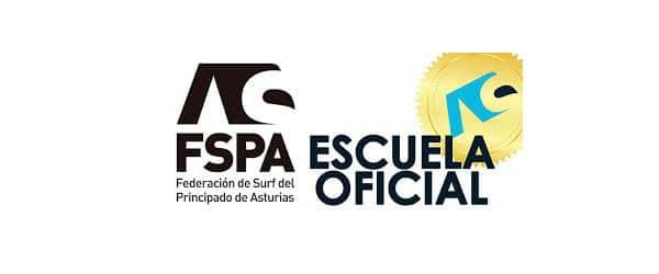 Logo FSPA escuela oficial colaboradora de Gijon Surf Hostel